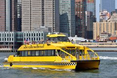 NY Water Taxi on the Hudson River Stock Image