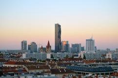 Ny Wien stadspanorama Arkivbild