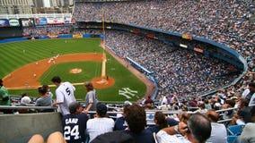 NY-Yankee och Detroit Tigersbasketmatch på Juli 8th 2007 royaltyfri bild