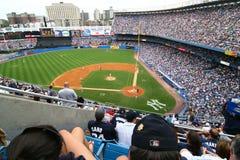 NY-Yankee och Detroit Tigersbasketmatch på Juli 8th 2007 royaltyfri fotografi