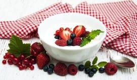 ny yoghurt för bär fotografering för bildbyråer