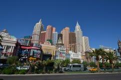 Ny York-ny York hotell & kasino, storstadsområde, stad, gränsmärke, horisont arkivfoto