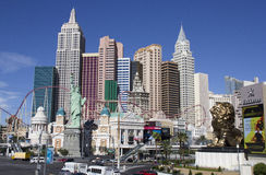 Ny York-ny York hotell & kasino på remsan i Las Vegas Arkivbild