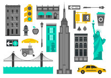 ny yourk vektor illustrationer