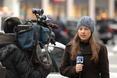 NY1 Reporter Stock Images