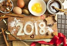 2018 nya år arkivfoton