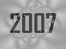 nya år 2007 för bakgrundshelgdagsaftonfractal Arkivfoto
