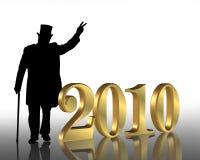 nya år 2010 för bakgrundshelgdagsafton Fotografering för Bildbyråer