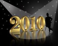nya år 2010 för bakgrundshelgdagsafton Arkivfoton