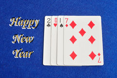 2017 nya år Arkivbild