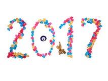 2017 nya år Royaltyfria Foton
