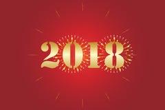 2018 nya år Arkivbild