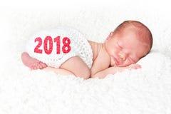 2018 nya år behandla som ett barn Royaltyfria Foton