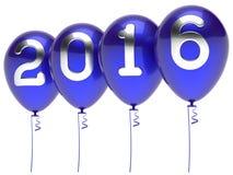 2016 nya år blått för garnering för parti för helgdagsaftonballongvintertid vektor illustrationer