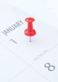 Nya år dag Arkivbild