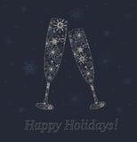 Nya år exponeringsglas. Royaltyfria Bilder