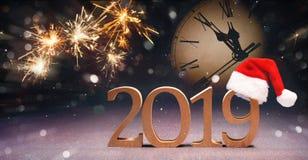 nya år för berömhelgdagsafton arkivbilder