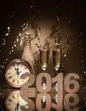 nya år för berömhelgdagsafton Arkivbild