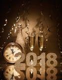 nya år för berömhelgdagsafton Royaltyfri Foto