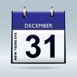 nya år för blå kalenderhelgdagsafton royaltyfri illustrationer