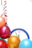 nya år för färgrik helgdagsafton Arkivbilder