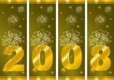 nya år för helgdagsafton vektor illustrationer
