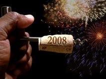 nya år för kork Arkivbilder