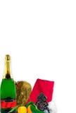 nya år för kortjulmeny Fotografering för Bildbyråer