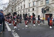 nya år för london marsch Arkivbild