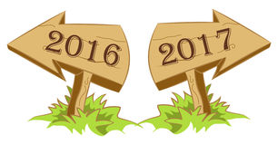 Nya år för Wood pil Royaltyfri Fotografi