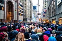 Nya år folkmassa Arkivfoto