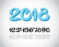 2018 nya år från iskalla nummer vektor illustrationer