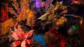 Nya år Gran-träd med leksaklängd i fot räknat Hd lager videofilmer