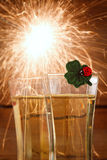 Nya år helgdagsafton Royaltyfria Bilder