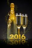 2016 nya år helgdagsafton Royaltyfri Foto