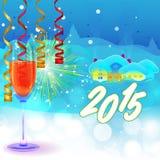 Nya år helgdagsaftonbakgrund Arkivfoton