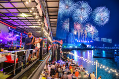 Nya år helgdagsaftonberömmar i Pattaya Royaltyfri Foto