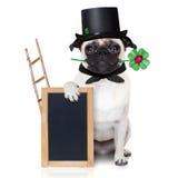 Nya år helgdagsaftonhund Arkivbild