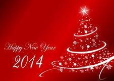 2014 nya år illustration Royaltyfri Bild