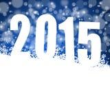 2015 nya år illustration Royaltyfri Bild