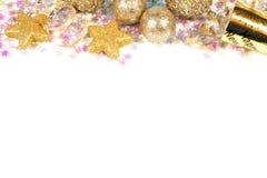 Nya år isolerad helgdagsaftongräns Royaltyfri Foto
