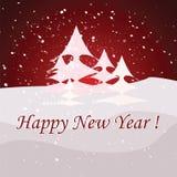 Nya år kort Arkivbild