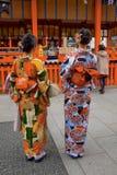 Nya år på den japanska Shintorelikskrin Arkivbild