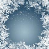 2018 nya år på frostad bakgrund för is Globalt färgar Arkivfoto