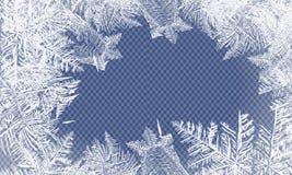 2018 nya år på frostad bakgrund för is Globalt färgar En redigerbar lutning används för lätt recolor Arkivfoton