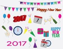 Nya år partigemkonster Stock Illustrationer
