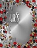 Nya år partiinbjudan eller meny stock illustrationer