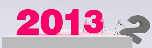 Nya 2013 år rearrangements Arkivbilder