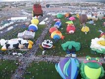 Nya Albuquerque - festival för ballong Mexiko för varm luft arkivfoto