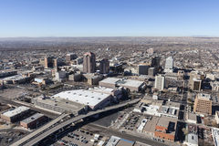 Nya Albuquerque - mexico i stadens centrum antenn Arkivbild